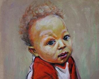 Custom Portrait 9x12 acrylic on canvas