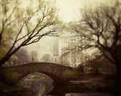 New York Photography, NYC Print, Large Art, Central Park Bridge, Autumn, Brown Wall Art, Fine Art Photography - Fairytale of New York