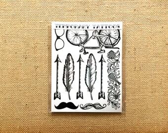 Modern Design Temporary Tattoos