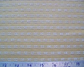 Gold & White Rich Texture Woven Upholstery Fabric from Calico Corners - By the Half Yard