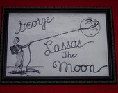 "It's A Wonderful Life  ""George Lassos The Moon""  framed 12x18  replica meticulously reproduced"