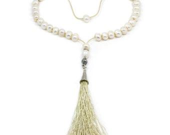 Ladies Prayer Beads-Tasbih-Masbaha-Worry Beads - Freshwater Pearls