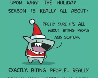 Mini-Shark Happy Holidays Card