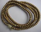 Ethiopian brass/bronze spacer beads, African beads, trade beads, small spacers, golden spacer beads