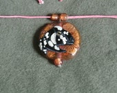 Pressed Foil Glass Nubian Necklace-Copper