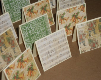Golden Bells of Christmas  Note Cards / Gift Tags / Place Cards Set Of 20