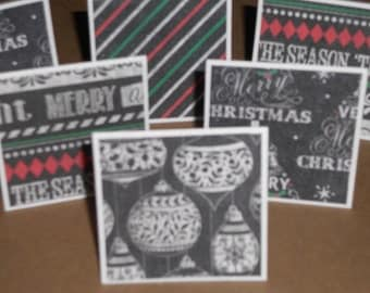 Tis the Season   Note Cards / Gift Tags / Place Cards Set Of 20