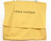 Vintage Authentic Louis Vuitton XL Sleeper Travel Dustbag Cotton Dust Bag 23x22 NOE Flap