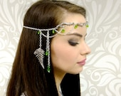 Silver Circlet, Elven Headpiece, Woodland Branch and Fern Circlet, Elven Crown, Cosplay, Fairy Jewelry, Jewelry Circlet