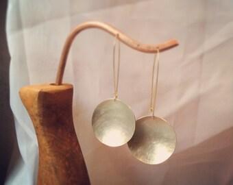 silver bowl earrings
