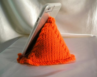 Desk Cell Phone Holder ~ Knitted Pillow Prop