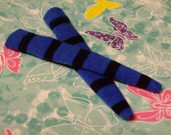 DAL Socks - Dark Blue With Black Stripes