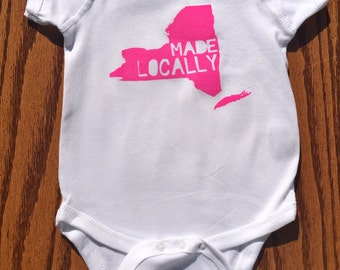 New York Made Locally onesie/Toddler Tee
