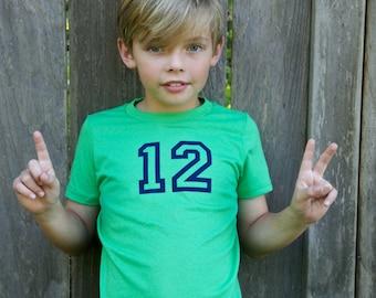 12th Man Seattle Seahawks Fan Kids Tee Shirt