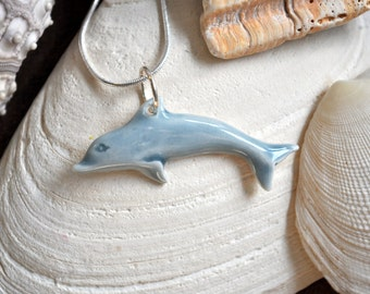 Leaping Dolphin Porcelain Necklace