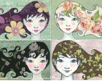 Postcard set - Girls