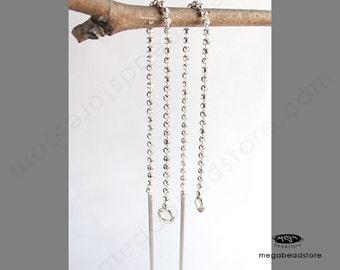 6 pcs 925 Sterling Silver Ear thread Earring Wire 83mm F218