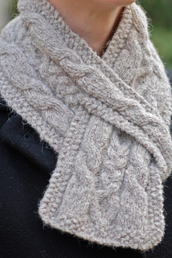 Knitting Pattern For Pull Through Scarf : Hiawatha Pull-Through Cable Scarf - Knitting Pattern from ...