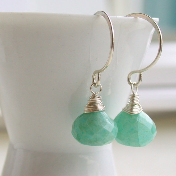 Outlet. Amazonite Wrapped Drops