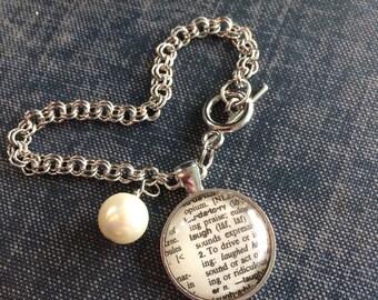 Personalized Bracelets for Women, Dictionary word bracelet, gift for bridesmaid, custom word bracelet, affordable gift for women