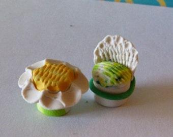 handmade dolls miniature  original design creation tiny treasure ooak collection terrarium garden Miniature Fantasy fairy house