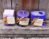 SALE: Set of Fruitified Estate Scented Small Pillar Candles