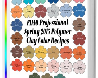 FIMO Professional Spring 2015 Polymer Clay Color Recipe Ebook