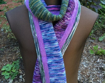 Color Block Scarf: Variegated Sky & Leaf