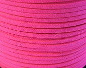Suede Lace Faux Leather Jewelry Cord (C45) Neon Hot Pink 15 feet 5 Yards for Crafts Jewelry Bracelets Necklace Stringing