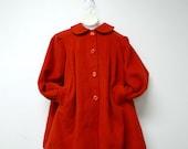 LITTLE TONI . vintage wool little girl's coat . size 8