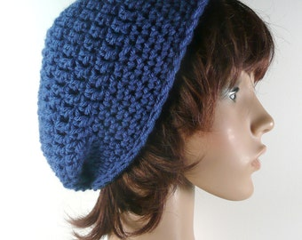 Slouchy Beanie in Royal Blue