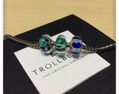 AUTHENTIC Trollbeads Beads (set of 3)