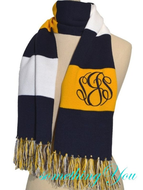 personalized day scarf for monogrammed team
