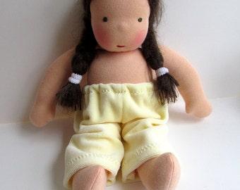 Waldorf doll pants, Germandolls, 10 - 12 inch clothes, for rag doll, cloth dolls Steiner doll, Waldorf toy wadorf doll clothes yellow