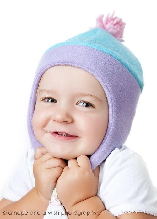 Childrens Fleece Hat Pattern Chin Strap Hat Sewing Pattern