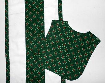 Bib and Burp Set Christmas Holly