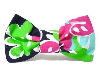 BOW ONLY: Made from Lilly Pulitzer Sippin and Trippin Fabric