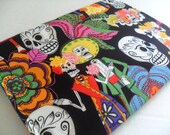 "13"" Laptop Case - Day of the  Dead Fabric  - Dia de los Muertos - MacBook Air - MacBook Pro - Samsung - Microsoft Surface - Chromebook"
