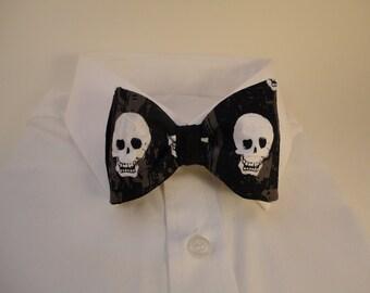 Edgy Skull Bow Tie