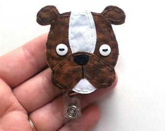 Boxer Badge Reel, Boxer Badge Card Holder,Boxer, Bulldog Badge Reel, Bulldog,ID Holder,Dog,Nursing Name Badge Holder,Badge Reel, Retractable