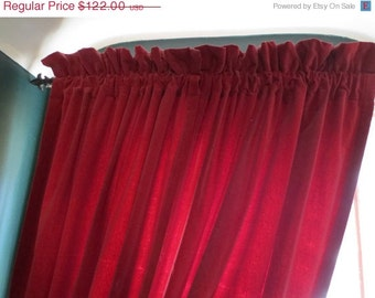 On Sale Vintage 84 In Blood Red Velvet Gothic Curtains 6