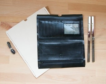 Leather Clutch Purse Kit - DIY Leather Wallet - Uses Diva Frame