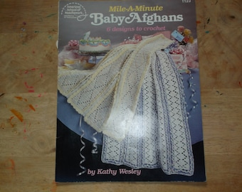 Baby Afghans Mile A Minute 6 Designs to Crochet patterns