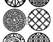 Round Pattern Designs #2 Larger Size Clear Stamp Texture