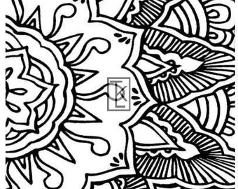 Clear Stamp Henna Tattoo Style (09-1) Texture