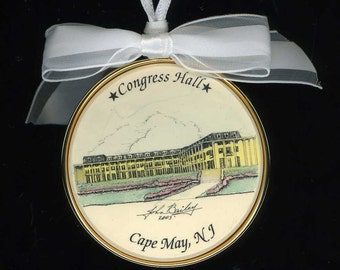 Cape May Congress Hall Holiday Ornament