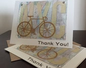 New York City NYC Map and Bike 12-Pack Screen-Printed Thank You Card
