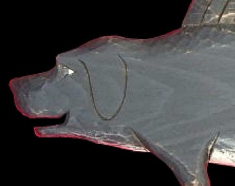 Dogs, Black Lab Dogfish - 3 ft., Hand Carved by Gary Borgnis