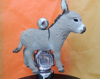 Mini Donkey Burro Wine Stoppers Bar Silver accent or Blue accent beads