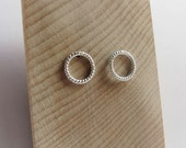 Braided Circular Rope Studs in Sterling Silver